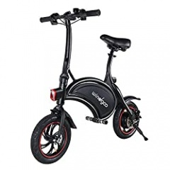TOEU Electric Scooter, Urban Commuter Folding E-bike, Max Speed 25km/h, 12