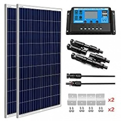 SUNGOLDPOWER 100 Watt 12 V Polycrystalline Solar Modules: 1 x 100 W Polycrystalline Solar Panel +  Solar Charge Controller