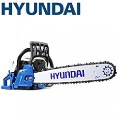 Hyundai HYC6220 62 cc Petrol Chainsaw Bar with 2 Chains and Carry Bag, Blue, 280 x 260 x 889