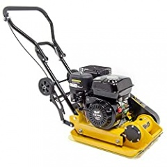 Construction Equipment Sale - Wolf 11000N Petrol Compactor 163cc Vibrating Wacker Plate 4-Stroke Engine with Wheels and Paving Pad
