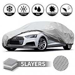 Leader Accessories Car Cover Waterproof/Snowproof/Sunproof/Dustproof/Windproof Scratch Resistant Fit Car's Length Up To 200'' Breathable Outdoor Indoor Sedan Cover(507x 155x 127CM)