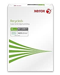 Xerox Recycled+ 003R91912 Recycled Printer Paper, Size A4, 80 GSM, 500 Sheets, White
