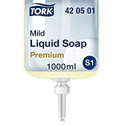 Tork 420501 Liquid soap S1 / Premium mild liquid hand wash compatible with Tork S1 liquid soap system, 1 x 1000ml
