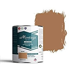 Montage Signature Interior/Exterior Eco-Friendly Paint, Terracotta - Low Sheen, 1 Gallon